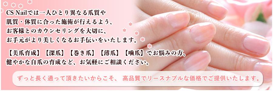 """元住吉、川崎、横浜周辺でネイルサロンをお探しの方へ高品質でバリエーション豊かなネイルサ-ビスを、リーズナブルな価格でご提供いたします。""""CSnail"""""""